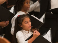 Students sing in concert