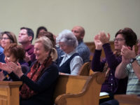 Audience applauds after a successful concert