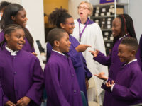 choir playing a singing game