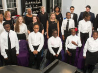 choir warming up for performance