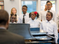 choir practicing with piano